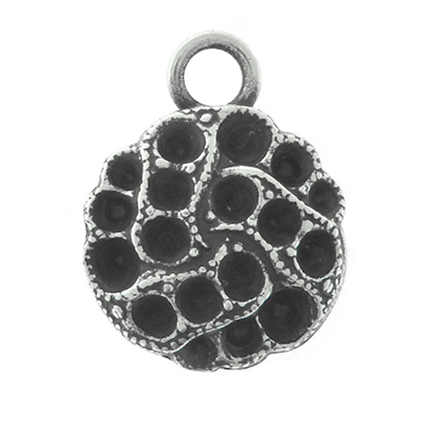 14pp, 24pp, 18pp Big Decorative  metal casting Pendant base with one top loop