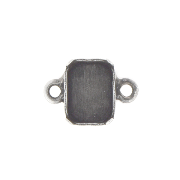 8x6mm Octagon Stone setting with two side loops