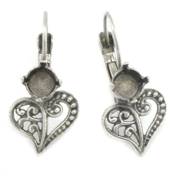 29ss Decorated Heart Earring base