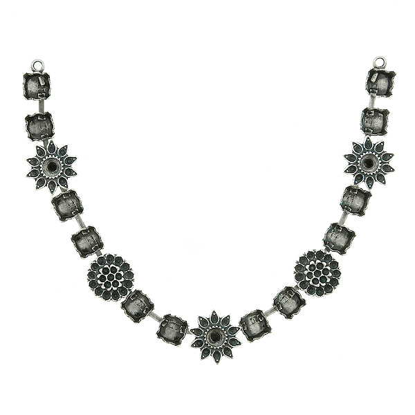 8pp and 32pp metal casting Daisy Flower elements on 29ss cup chain Centerpiece for Necklace base