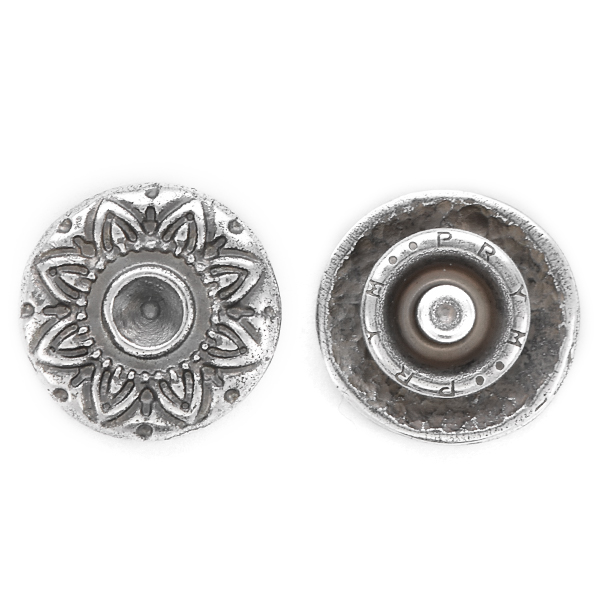 32pp Round decorated Snap Button Jewelry