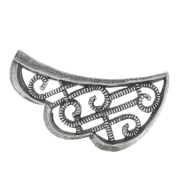 24x13mm Stamping metal filigree wing right side - 4 pcs pack