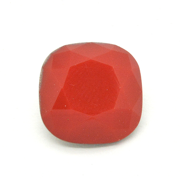 Opaque Red Glass Stone for 4470 12X12mm Square setting