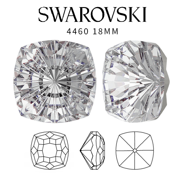 Crystal Clear color 18mm SW 4460 Mystic Square crystal