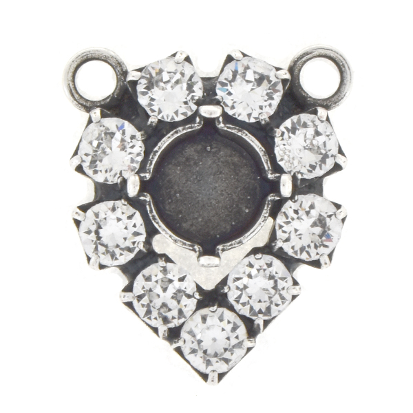 39ss with 32pp Rhinestones Pear shaped Pendant base with 2 loops