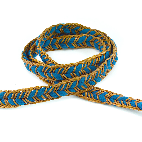 17mm Blue Flexible fabric cord for jewelry making