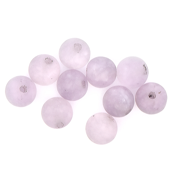 6mm Round natural Agate Beads Light Lilac Matte color - 10pcs pack