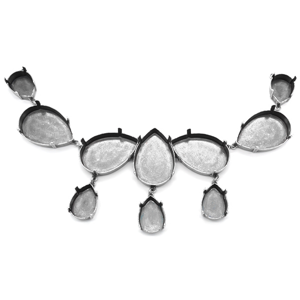 Pear shape 20X30mm and 13X18mm Nacklace Base