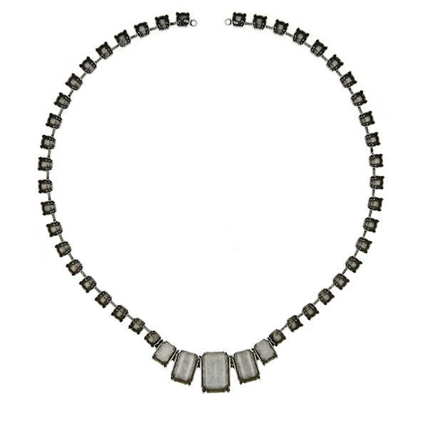 Octagon stone settings on 29ss Cup Chain Necklace base