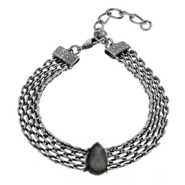 14x10mm Pear shape setting on 15cm flat mesh chain almost finished bracelet base