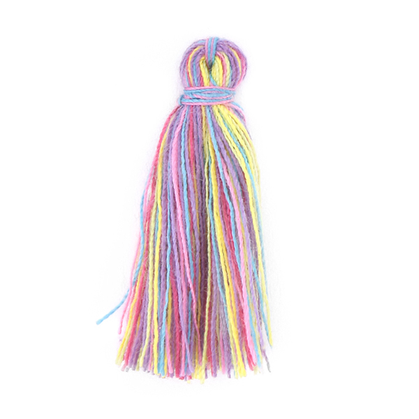 30mm Thread Tassel for jewelry making Multicolor - 4pcs pack