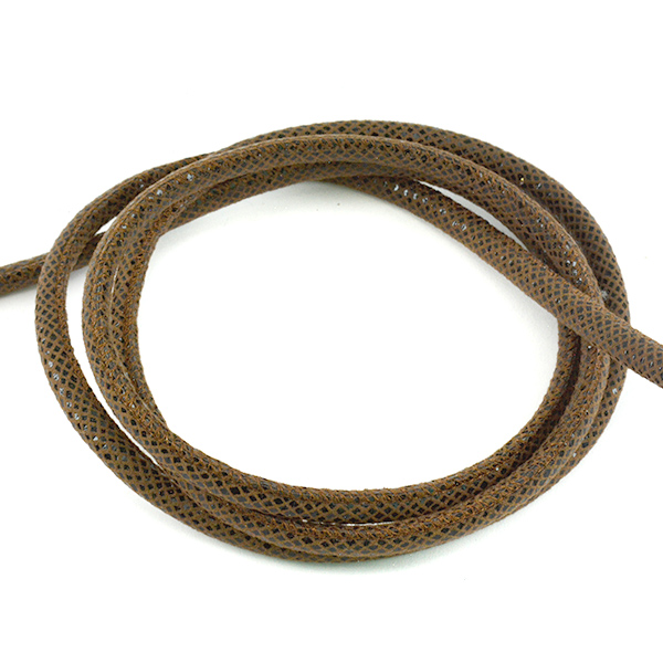 6mm Black and Dark Brown Round leather cord for jewelry making