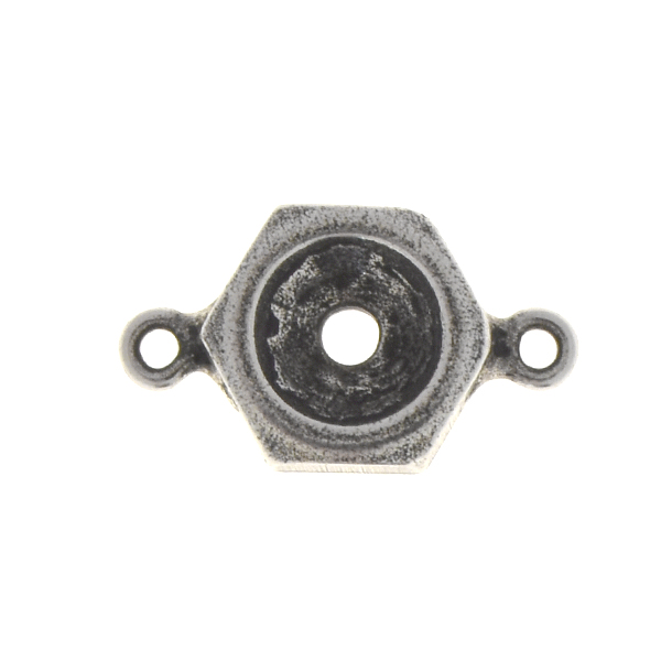 29ss Screw nut jewelry connector with two side loops