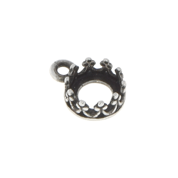 29ss/6mm Open back crown stone setting with one top loop
