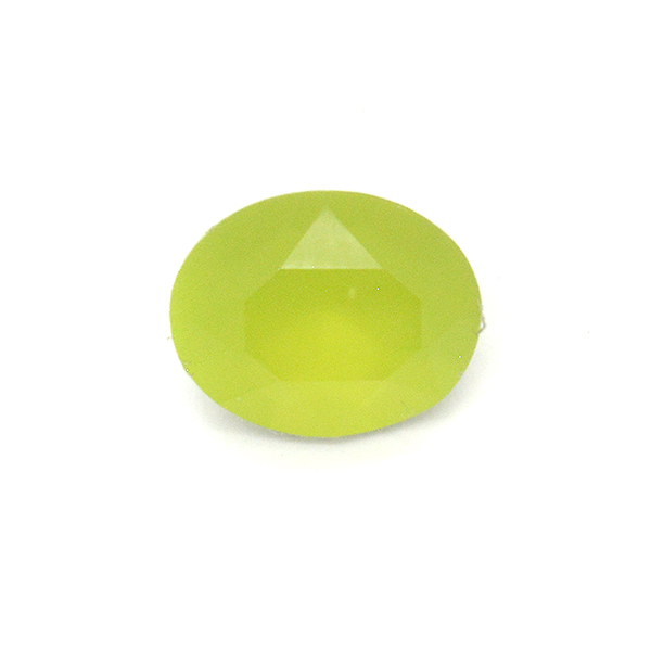 Opaque Light Green Glass Stone for Oval 10X8mm setting-5pcs pack