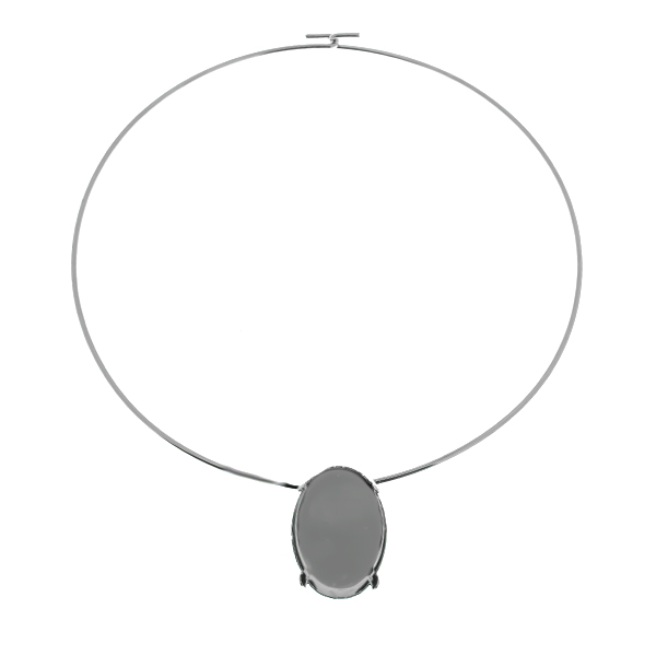 20x30mm Oval setting  Wire Necklace/Choker base