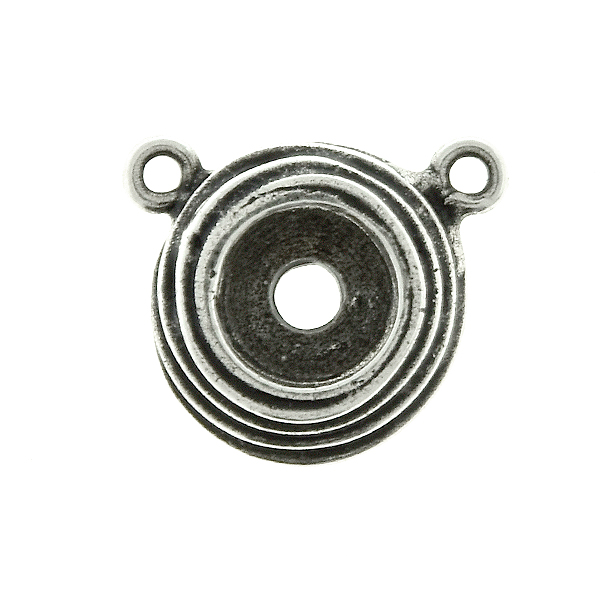 29ss wavy metal casting Pendant base with two top loops