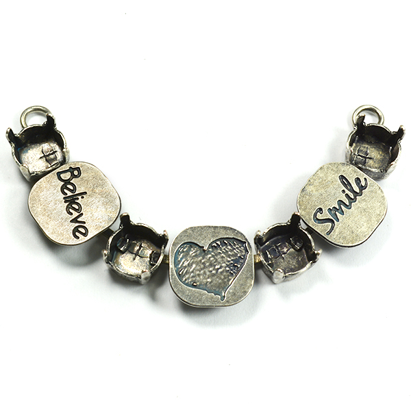 39ss Necklace center piece with Believe Heart and Smile meanings