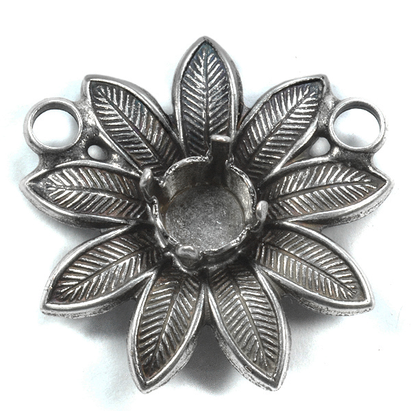 Flower pendant base with 39ss setting