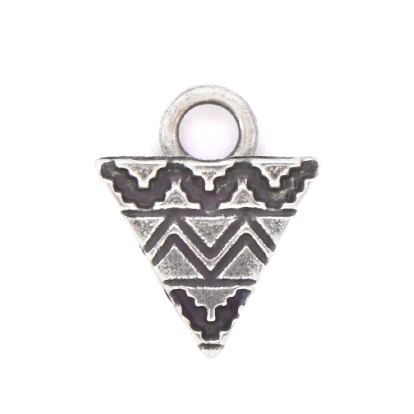 Aztec Triangle shaped Charm with top loop