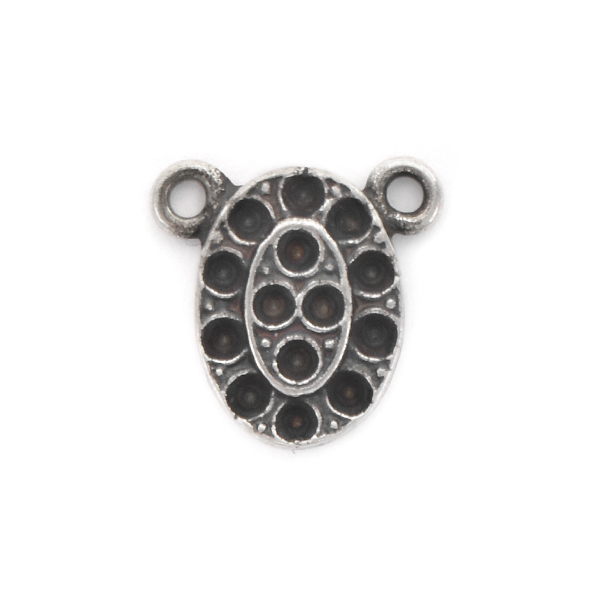 8pp Oval Pendant base with two top loops