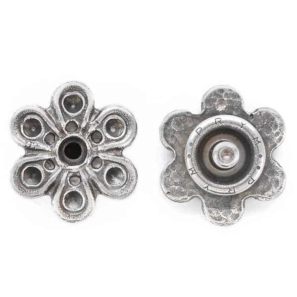 14pp, 24ss Metal Flower Snap Button Jewelry