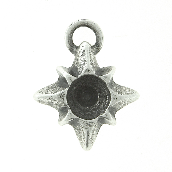 32pp Metal casting Star Charm/Pendant with top loop