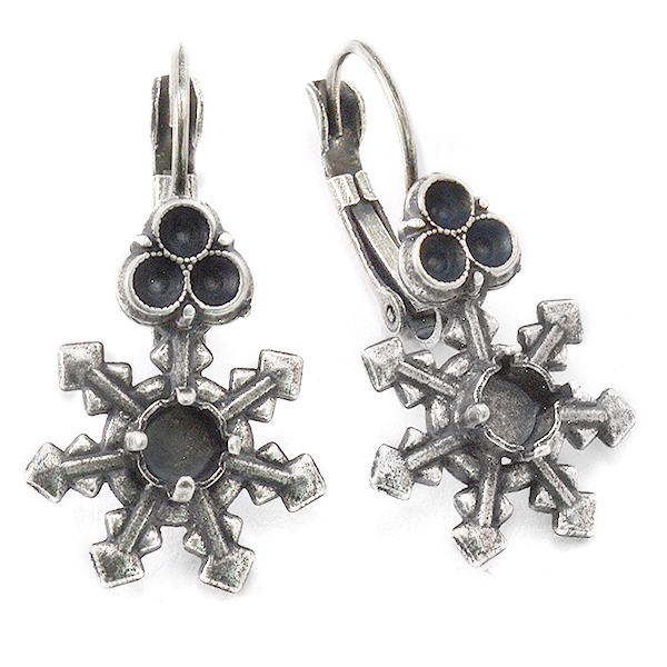 24ss and 24pp Drop Snowflake earring bases