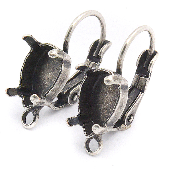 10x7mm Pear shape Drop Earring base with buttom loop