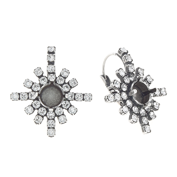 29ss Snowflake withRhinestoness Lever back earring base