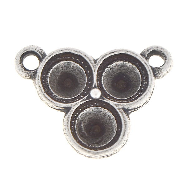 29ss Inverted Triangle Pendant base with two top loops