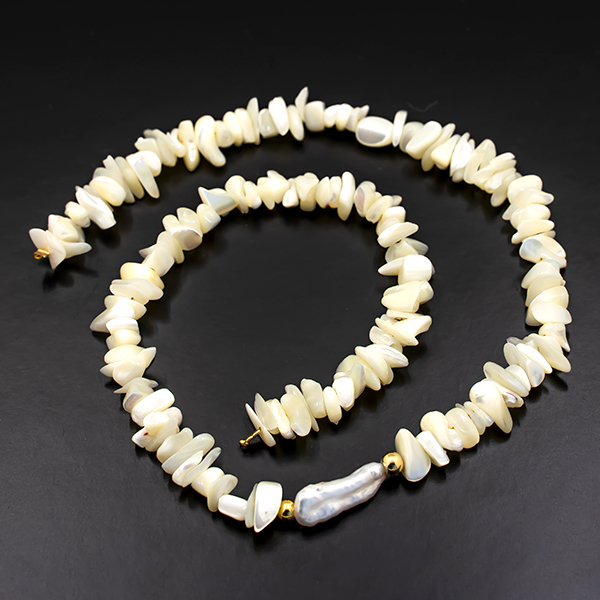 35cm Sea Shell Beads Strands connector with Gold plating color findings