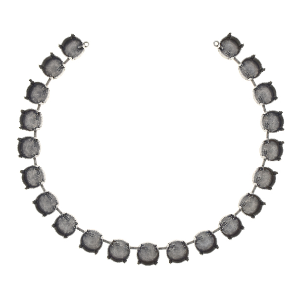 12mm Rivoli cup chain Centerpiece for Necklace (21 settings)