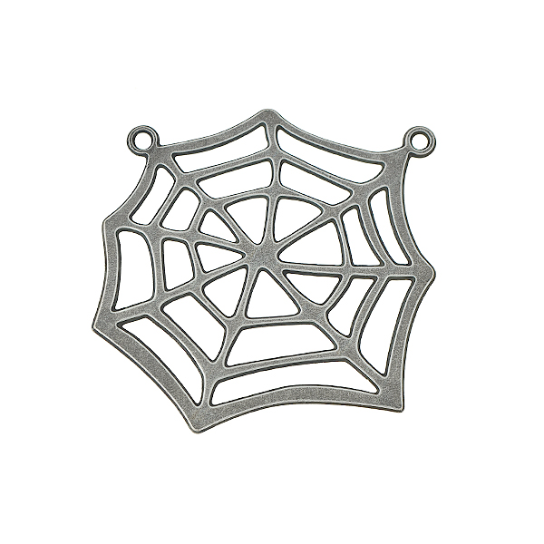 39x33mm Brass Cobweb pendant with two top loops - 2 pcs/pack
