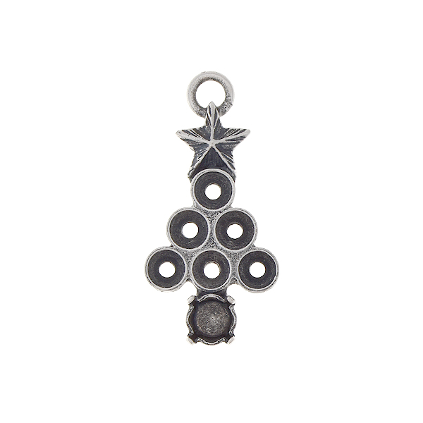 32pp, 24ss Christmas tree pendant base with one top loop