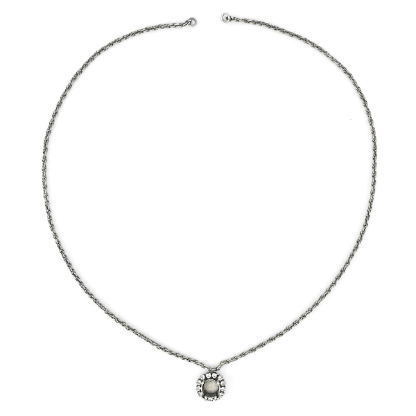 39ss Pendant Necklase with SW rhinestone and 2mm Thin Rope Chain