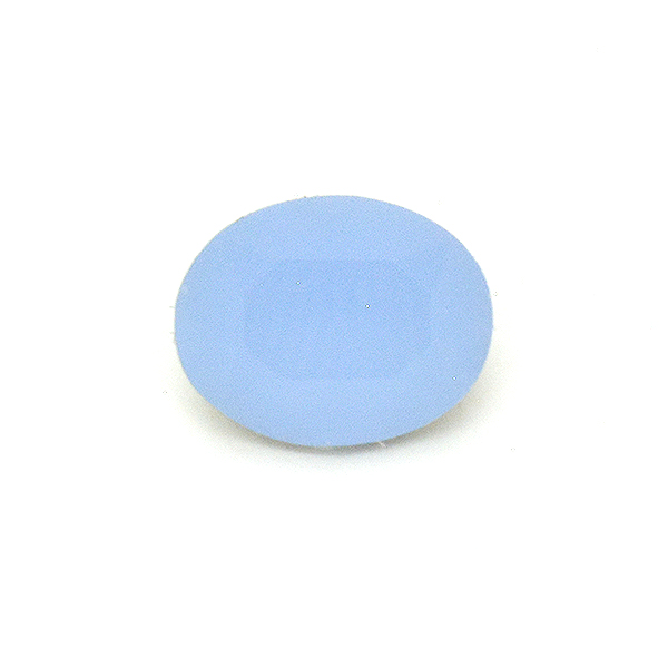 Opaque Light Blue Glass Stone for Oval 10X8mm-5pcs pack
