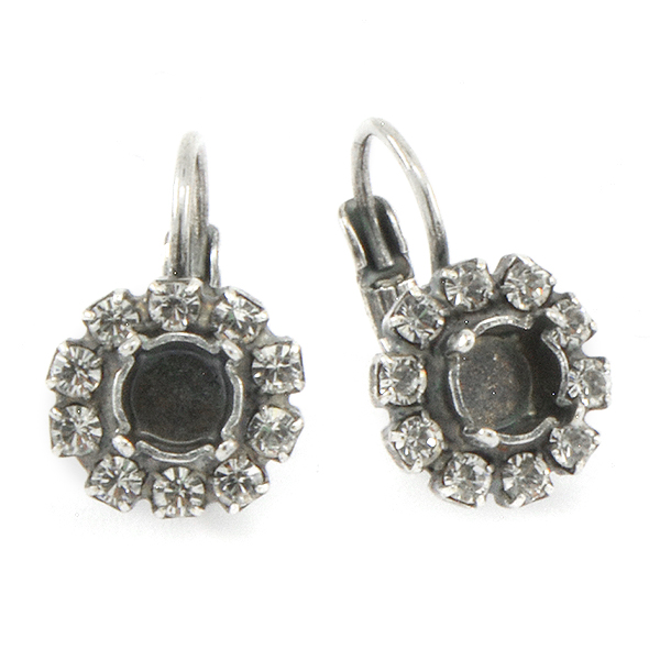 24ss Lever back Earring settings with Rhinestones