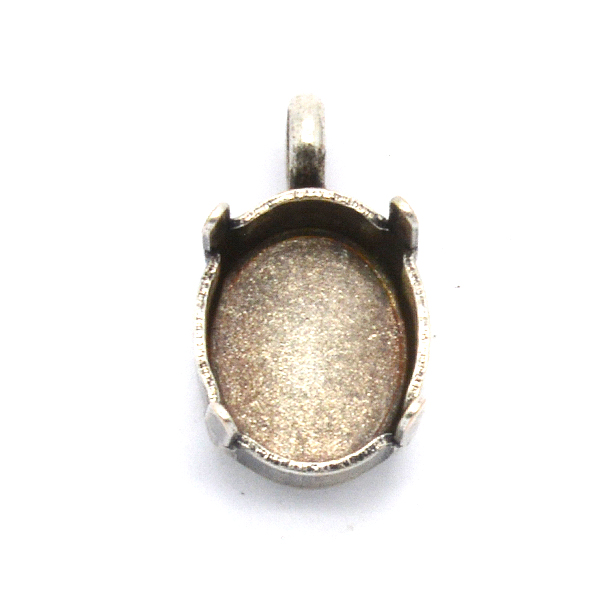 Oval 10X8mm Pendant base with one loop