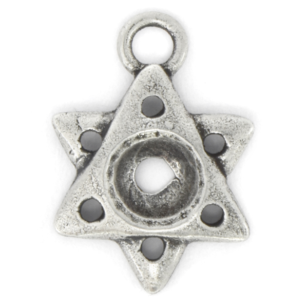 29ss Star of David Pendant base with top loop