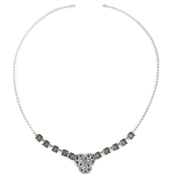 18pp,24pp and 29ss Faceted 2mm ball chain necklace base