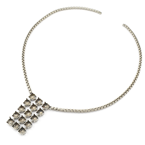 39ss with 4mm Box chain Necklace base - 48cm