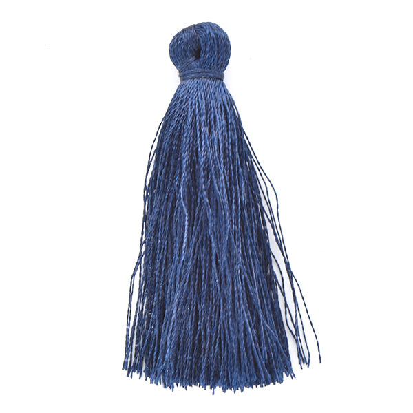 45mm Thread Tassel for jewelry making Navy Blue color - 4pcs pack