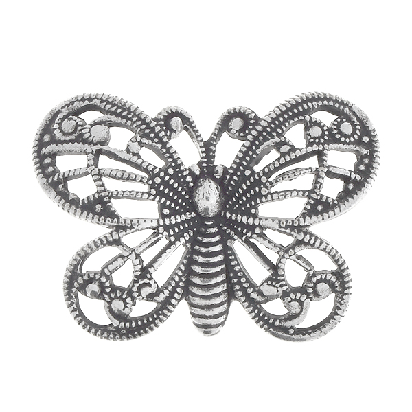 16.7x23mm Stamping metal filigree butterfly - 4 pcs pack