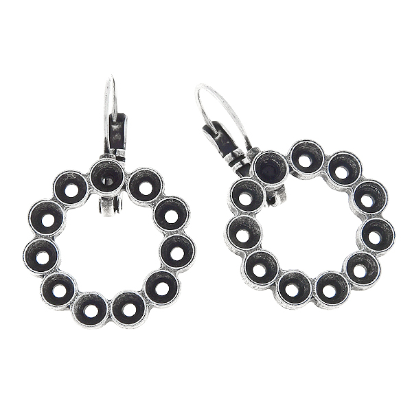 32pp, Hollow circle Lever back Earring bases