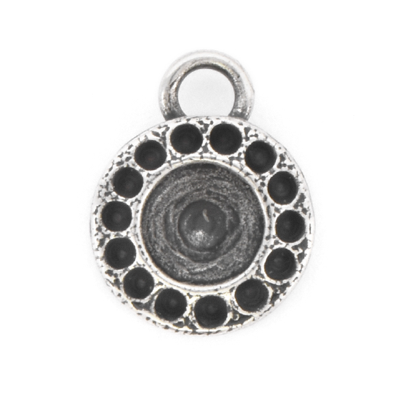 8pp, 29ss Round Pendant base with top loop