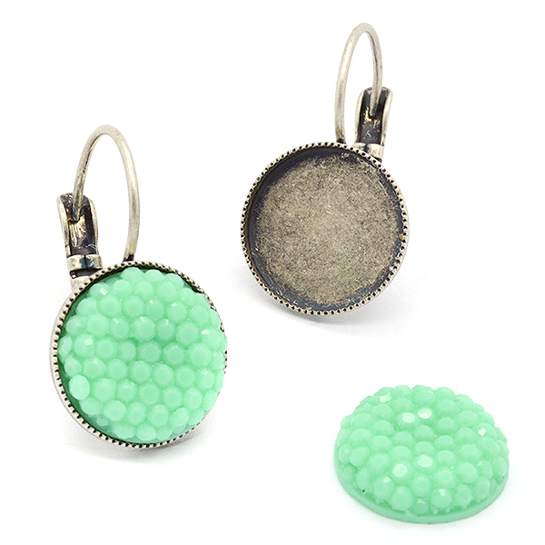 12mm Round hanging earrings base