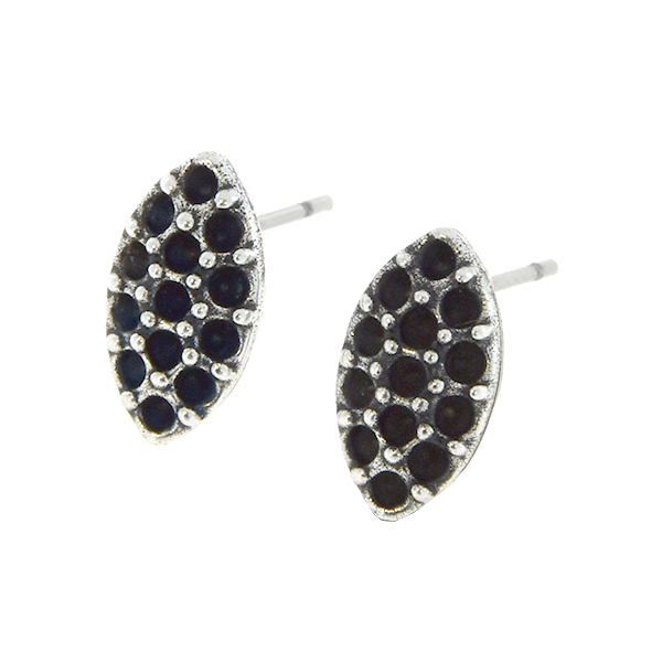 8pp Marquise shaped stud earring base