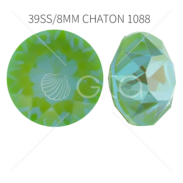 39ss/8mm Chaton 1088 Crystal Mint Green Delite