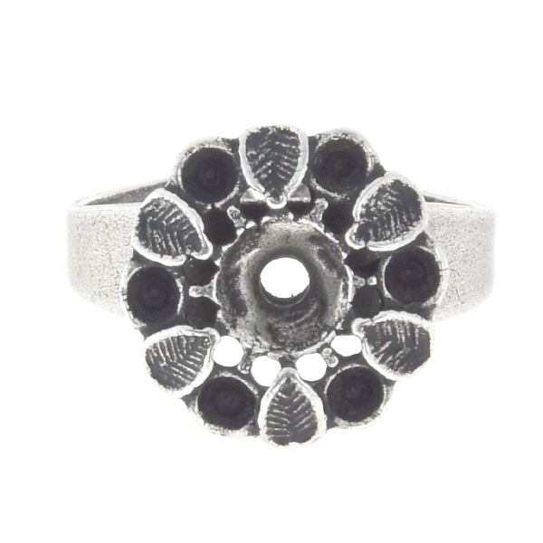 14pp, 24ss Flower with leaves adjustable ring base